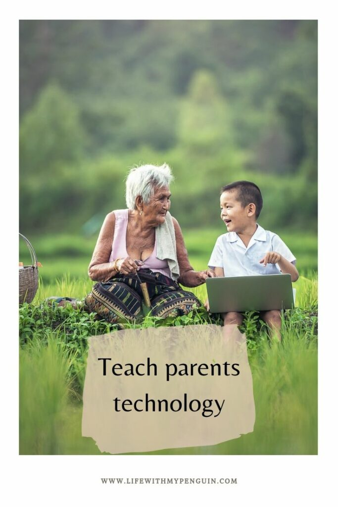 Teaching technology to parents